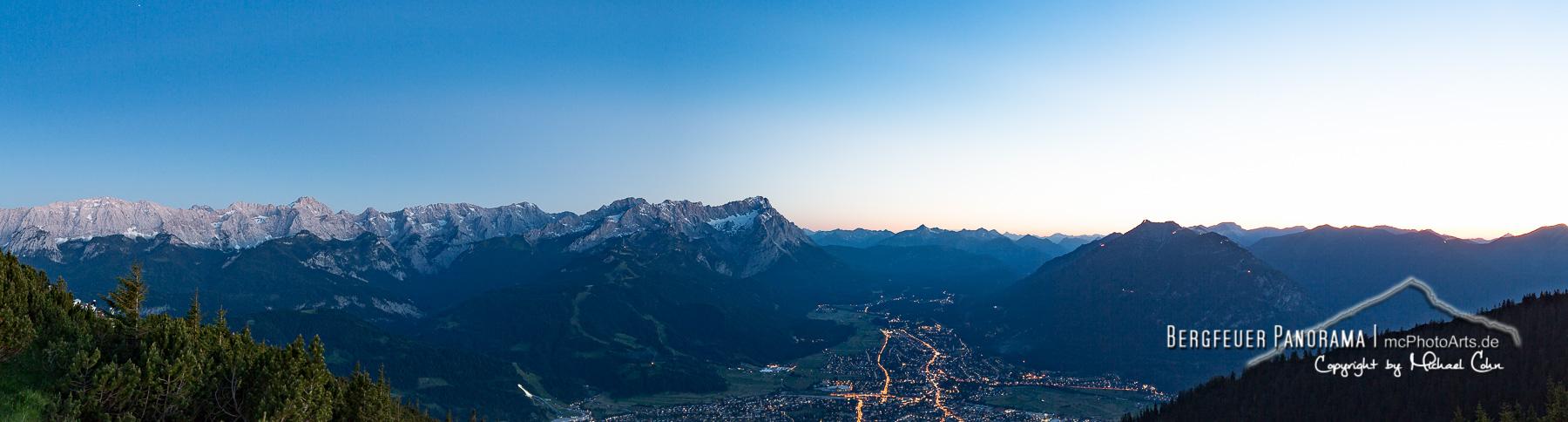Bergfeuer Panorama